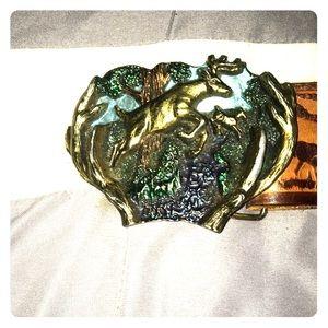 (Vintage)The Great American Buckle CO buckle+belt